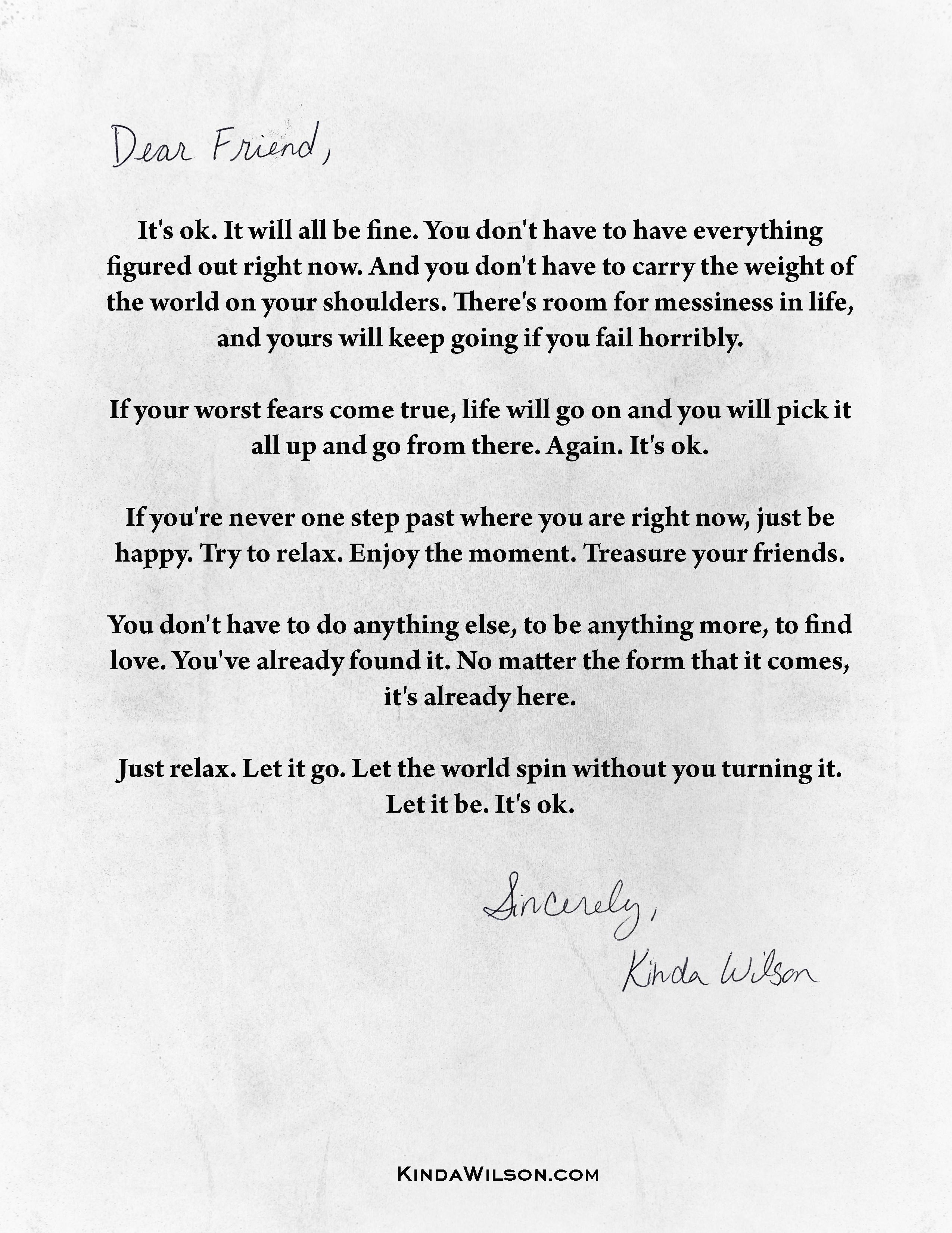 The Letter - Kinda Wilson
